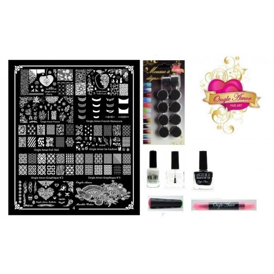Kit Stamping Professionel XL4 ONGLE AMOR