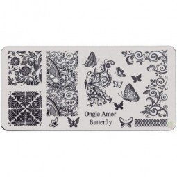 Butterfly - Plaque de stamping | ONGLE AMOR
