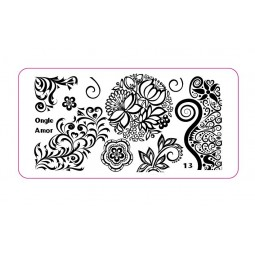 Plaque stamping 13 | ONGLE AMOR