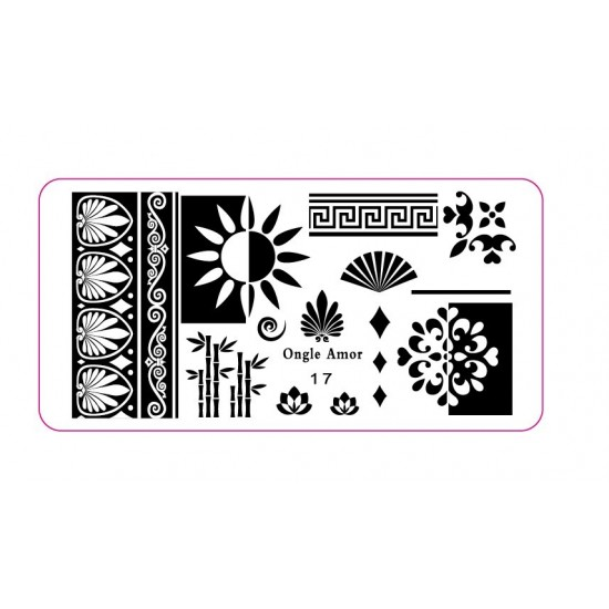Plaque stamping 17 | ONGLE AMOR