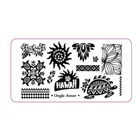 Plaque Stamping HAWAII   ONGLE AMOR