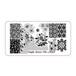 Plaque Stamping FLO   ONGLE AMOR