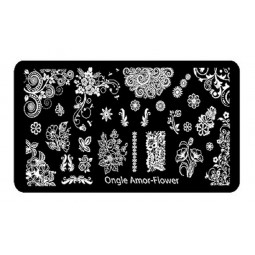 Plaque stamping FLOWER | ONGLE AMOR