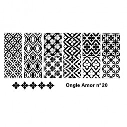 Plaque stamping 20 ONGLE AMOR