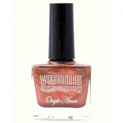 Vernis Stamping Bronze Pailleté- ONGLE AMOR