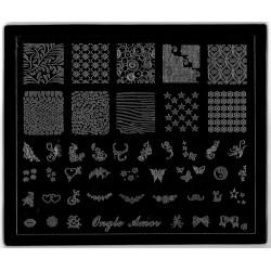 Plaque de Stamping CLASSIQUE version de luxe | ONGLE AMOR