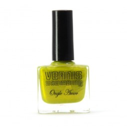 Vernis Stamping Vert pailleté - ONGLE AMOR
