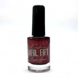 Vernis Stamping Rouge Pailleté - Excellence Nail Art