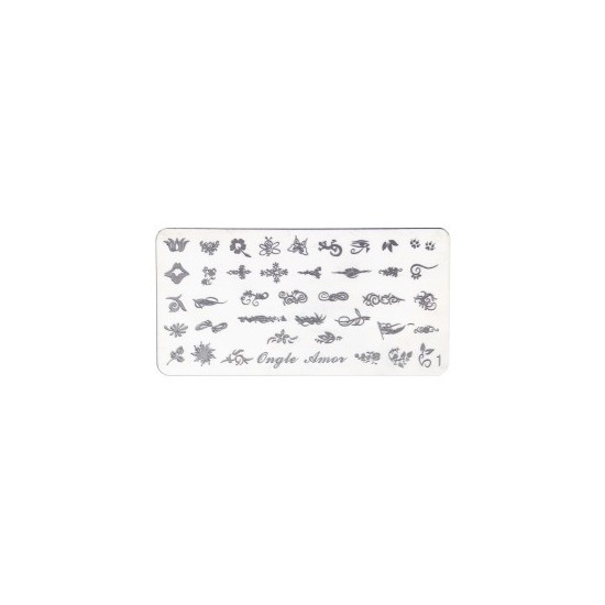 Plaque stamping 1 | ONGLE AMOR