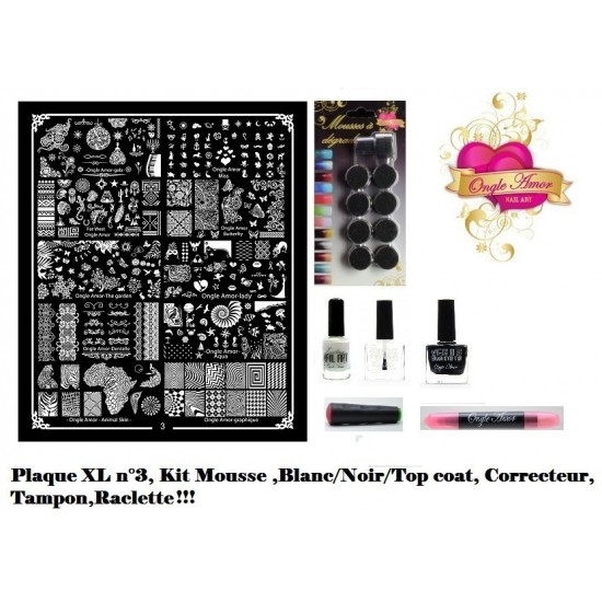 Kit Stamping Professionel XL3 ONGLE AMOR