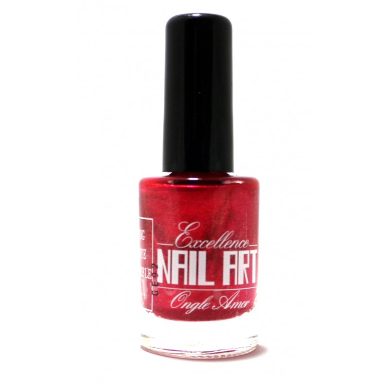 Vernis Stamping Rose Pailleté  - Excellence Nail Art
