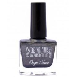 Vernis Stamping Noir Pailleté-