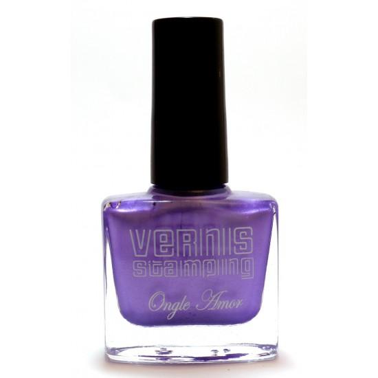Vernis Stamping Violet Pailleté