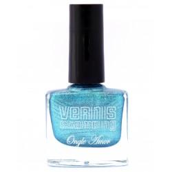 Vernis Stamping Bleu Irisé