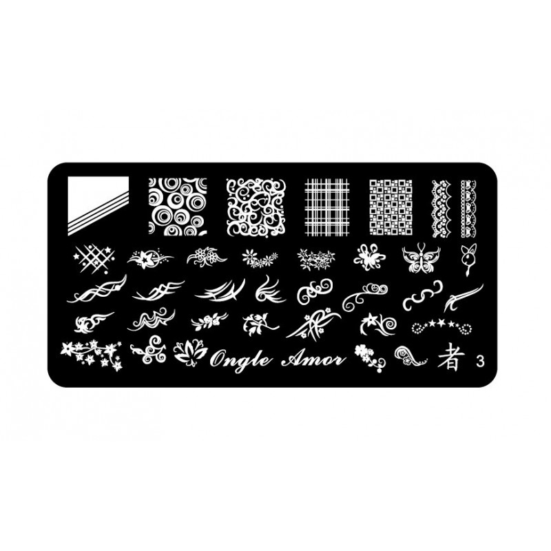 Plaque stamping 3 | ONGLE AMOR