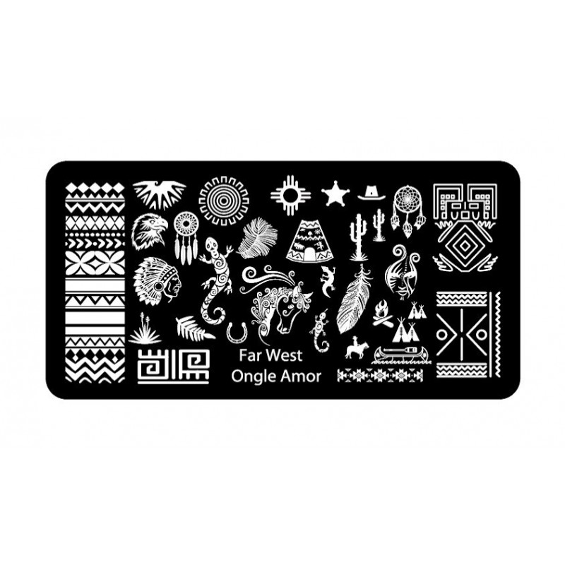 Far West - Plaque de stamping | ONGLE AMOR