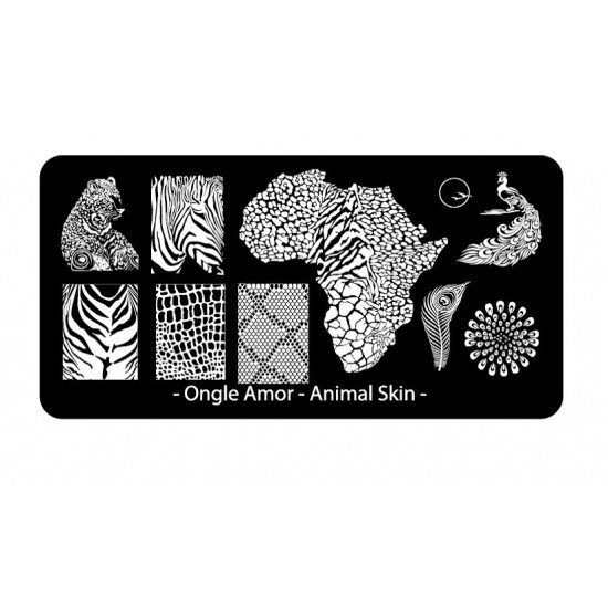 Animal Skin - Plaque de stamping | ONGLE AMOR