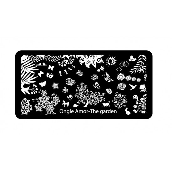 The Garden - plaque de stamping ONGLE AMOR