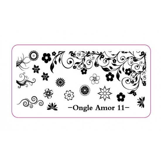 Plaque stamping 11 | ONGLE AMOR