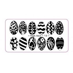 Plaque stamping 12 | ONGLE AMOR