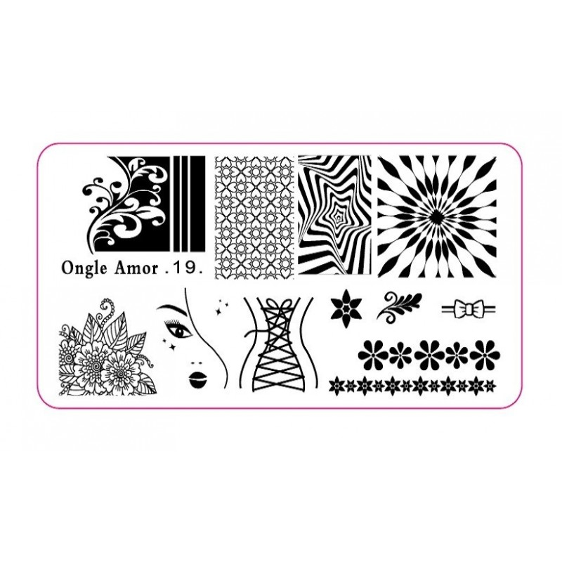 Plaque stamping 19 | ONGLE AMOR