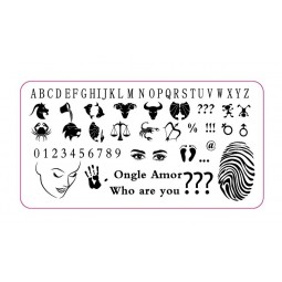 Plaque stamping WHO ARE YOU | ONGLE AMOR
