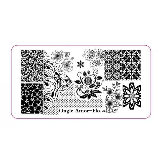 Plaque Stamping FLO | ONGLE AMOR