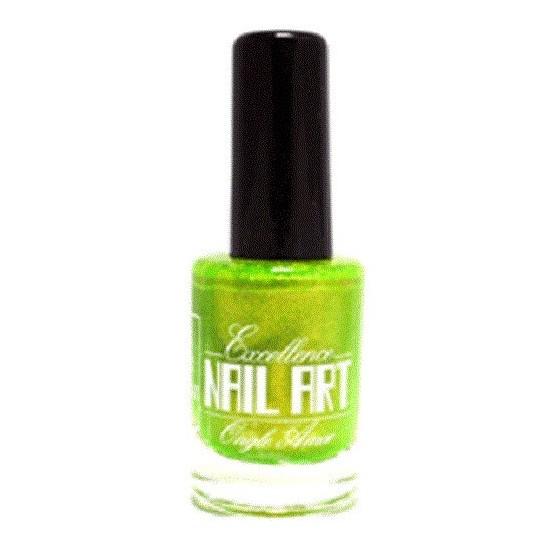 Vernis Stamping Vert Anis Pailleté - Excellence Nail Art