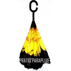 PARAPLUIE INVERSE TOURNESOL -PRATIQ' PARAPLUIE