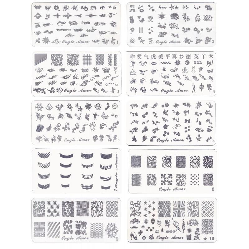 Coffret Nail Art Stamping ONGLE AMOR